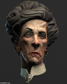 This is a likeness sculpt based of the very talented Cedric Peyravernay's art: https://www.artstation.com/artwork/l6r45 I have been trying to speed up my workflow and with this one, I used only zbrush, keyshot, and a little compositing work in photoshop. The textures come from polypaint and use of the material editor in keyshot. There are no uvs and its simply vertex painted so no actual texture sheets. I have included some images that pretty much sum up my workflow...