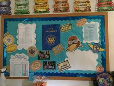 Preschool, Sky VBS, parent board, classroom decorations