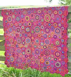 Ravelry: Kissing Kaffe Blanket pattern by Amanda Perkins