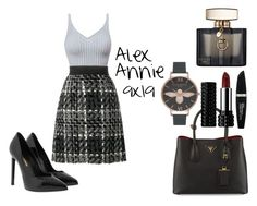 """Alex Annie/Spn 9x19"" by magiehale ❤ liked on Polyvore featuring Yves Saint Laurent, Gucci, Dolce&Gabbana, Prada, Kat Von D, Max Factor, Olivia Burton, cute, ootd and spn"