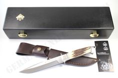 Puma Cougar Stag Hunting Knife Incl. Leather Sheath
