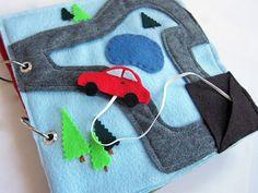 Cuento de fieltro interactivo: el coche y la carretera.
