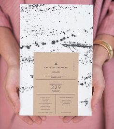 How beautiful are these gorgeous invites created by @42pressed  Love the mix of hand painted elements with the clean crisp type!