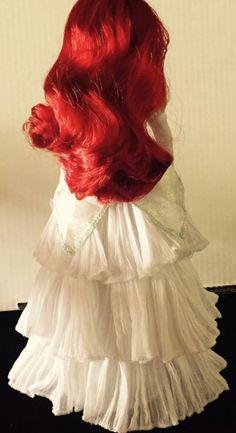 "Disney Once Upon A Wedding Dress 12"" Ariel Princess Bride Articulated Doll"
