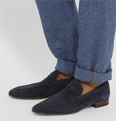 0fb3490a58c HUGO BOSS Artiloseo Suede Penny Loafers Mens Designer Loafers