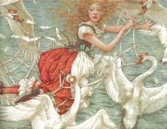 """Anne Yvonne Gilbert's art from """"The Wild Swans"""" not even close to giving it justice. I need, need this book!"""