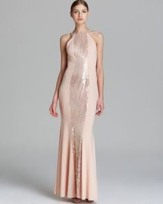 LM Gown - Open Back Jersey  Bloomingdale's