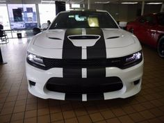 """2015 2016 2017 Dodge Charger 10"""" Plain Rally Stripe Stripes graphics set Fit all SXT R/T Scat Pack Hellcat by SuperbDecalsLLC on Etsy"""