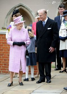 The Queen and Prince Philip on Easter, April 8, 2012