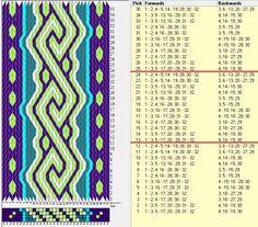 32 tarjetas, 5 colores, repite cada 12 movimientos // sed_1036 diseñado en GTT༺❁