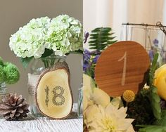 Love the number 18 table number on the wood