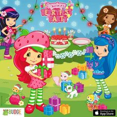 Strawberry Shortcake Pictures, Strawberry Shortcake Characters, Christmas Wallpaper, Coloring Book Pages, Princess Peach, Fun Crafts, Berries, Birthday Parties, Illustration