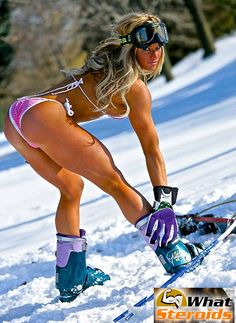 Get your #body ready for #skiing: #female #bodybuilding.  #exercises #womenlift #workout #muscle