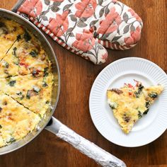 Bacon, Mushroom, and Roasted Red Pepper Frittata