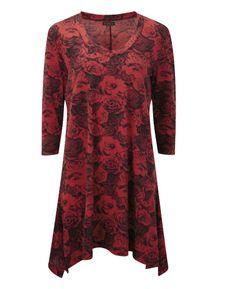 """Joe Browns"" Joe Browns Flattering Floral Tunic at Simply Be; Tunic tops for leggings"