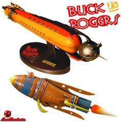 Naves Espaciais de Buck Roger: Battle Cruiser e Asterite Spaceship