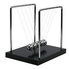 BOJIN Classic Newton Cradle Balance Balls Science Psychology Puzzle Desk Toy - Large *** Details can be found at