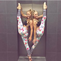 These babies are back in stock!!! Floral and Stripes Flexi Yoga Pants in size S/M are now back guys! Get them now before they sell out again! (And rock them like these gorgeous twins @sam_rybka and @teagan_rybka they are also wearing our Black Lexi bralettes as well)