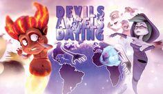 Devils, Angels & Dating é uma animação em que o Diabo quer dar uma de Cupido e conquistar o afeto da Morte, resultando em uma situação catastrófica no céu. http://ilustracaodeideias.com.br/animacao/devils-angels-dating/ #Angels #Animacao #Animation #Dating #Devils #DevilsAngelsDating #IlustracaodeIdeias #MarkosMugen #MichaelCawood