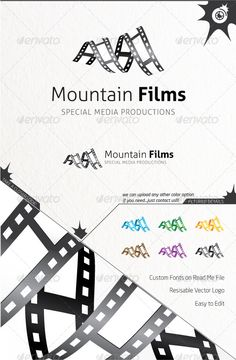 Mountain Films - Logo Design Template Vector #logotype Download it here: http://graphicriver.net/item/mountain-films/5573068?s_rank=519?ref=nexion