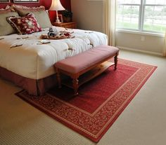 #Arearugs and #carpets together -- Who says they can't complement each other? Here we share a #bedroom featuring both!
