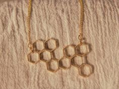Honeycomb Necklace by ChelseaDeloney on Etsy, $52.00
