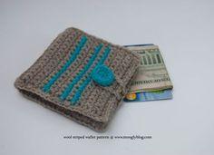 Wool Striped Wallet: free crochet pattern at www.mooglyblog.com