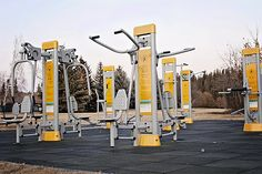We have outdoor gyms around the city