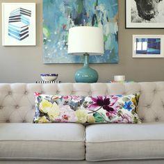 Designers Guild Orangerie Rose lumbar pillow cover  1 SIDED