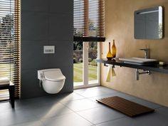 Le #WC lavant #Geberit #AquaClean 5000 allie lavage naturel, confort, luxe et design.