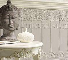 art nouveau lincrusta panel painted white. Black Bedroom Furniture Sets. Home Design Ideas