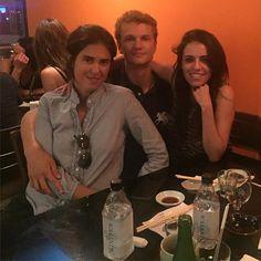 Francesca, Olga and a guy