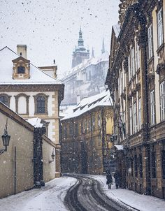 things to do in Prague, visit during a snow fall