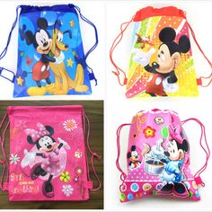 Minnie Mickey Moana Trolls Non-Woven Bag Fabric Backpack Child Travel //Price: $3.37 & FREE Shipping //     #hashtag3