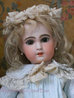 beautiful french antique doll clothes | Very Beautiful French Bisque Jumeau Size ... | Antique doll, Anti ...