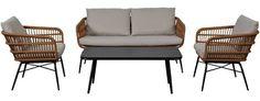 TIKA Sofasett Outdoor Chairs, Outdoor Furniture, Outdoor Decor, Exterior, Garden, Home Decor, Homemade Home Decor, Garden Chairs, Garten