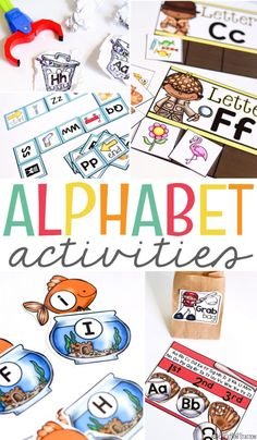 Keep centers exciting with these fun alphabet activities. Kids will enjoy practicing letter identification, sounds, sorting, alphabetic order and more! Preschool Letters, Alphabet Activities, Literacy Activities, Literacy Centers, Kindergarten Literacy, Homeschooling Resources, Toddler Activities, Teaching Resources, Curriculum
