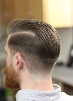 FETISH BARBER Classic Mens Hairstyles, Professional Hairstyles For Men, Mens Hairstyles With Beard, Slick Hairstyles, Hair And Beard Styles, Hairstyles Haircuts, Butch Haircuts, Barber Haircuts, Cool Haircuts