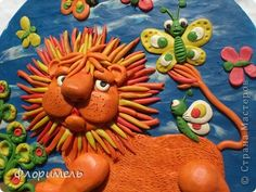 Painting mural drawing Craft Applique product of plasticine + reverse Modeling Clay Quartet + 1 photo