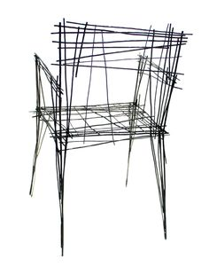 Jinil Park has created a range of furniture from intersecting wires that has the appearance of a two-dimensional sketch.