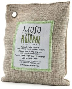 Amazon.com: Four (4) Packs of Moso 200g Natural Air Purifying Bags Naturally Helps Remove Odors,Bacteria,Allergens,Mold,Mildew and Moisture:...