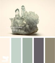 bathroom paint palette--Hubby and I are painting and re-tiling the guest bathroom this summer. So excited for this project! I am thinking a dark purple like the one shown here would be a great color for painting. :)