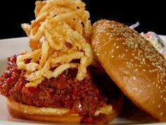 Mom's Sloppy Joe from FoodNetwork.com Diners, Drive-Ins and Dives. Can't wait to try this.