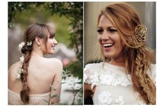 Love Blake's hair here! (On the right). You could incorporate the head bands AND a flower with this one.