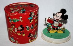 "1950's Disney's ""MICKEY MOUSE WRIST WATCH"" SET. Very rare packaging version."