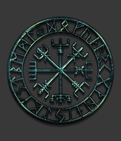 Vegvísir is derived from Icelandic words: veg & vísir. Vegur means road/path, and Vísir means guide. When carried, one will never lose one's way in storms or bad weather, even when the way is unknown. Justin F (http://users.on.net/~starbase/galdrastafir/galdrastafir.htm) argues the Vegvísir has been called a Viking Compass and described as a magical symbol of navigation connected with real compasses. No references to this sigil prior to 1600 have been found and should not be regarded as…