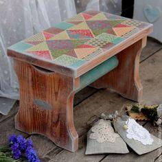 """Купить Банкетка """"Country living"""" (скамейка, лавочка, кантри стиль) - мебель ручной работы, скамеечка"""