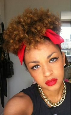 Natural hair updo Just Beautiful