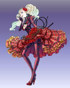 Ann in a beautyful dress