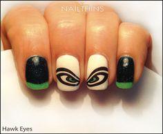 Hawk Eye Nail Decal Football Fan Nail Art by NAILTHINS on Etsy